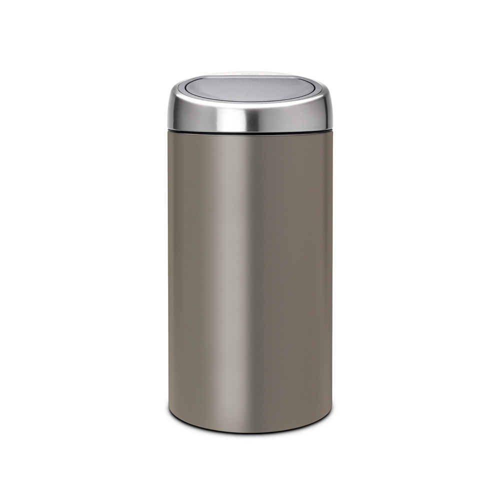 Кош за смет Brabantia Touch Bin Recycle 2x20L, Platinum