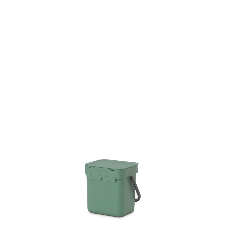 Кош за смет за разделно събиране Brabantia Sort&Go 3L, Fir Green(4)