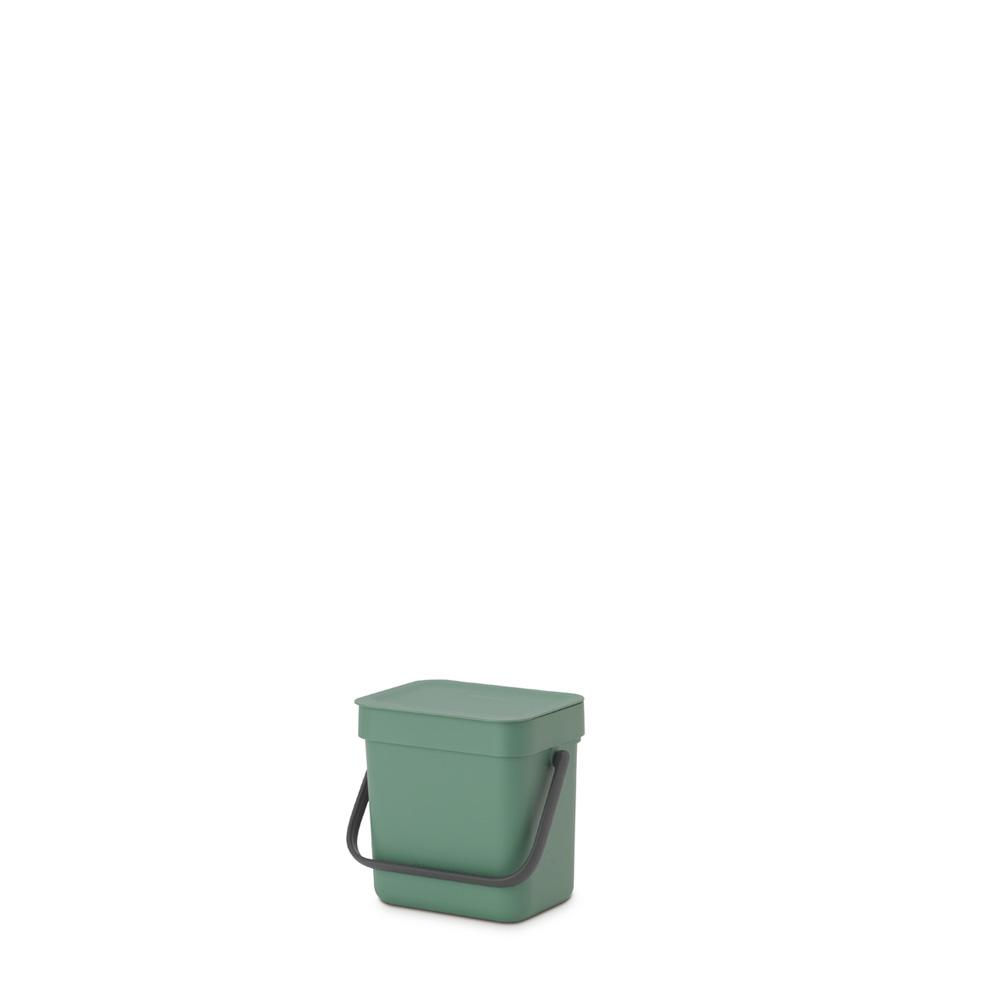 Кош за смет за разделно събиране Brabantia Sort&Go 3L, Fir Green(5)