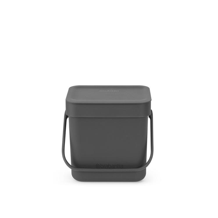 Кош за смет за разделно събиране Brabantia Sort&Go 3L, Grey