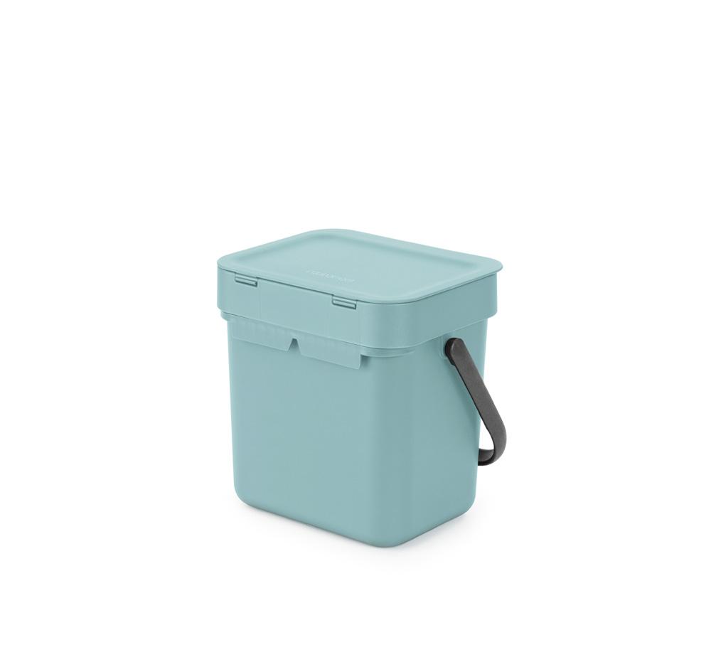 Кош за смет за разделно събиране Brabantia Sort&Go 3L, Mint(4)