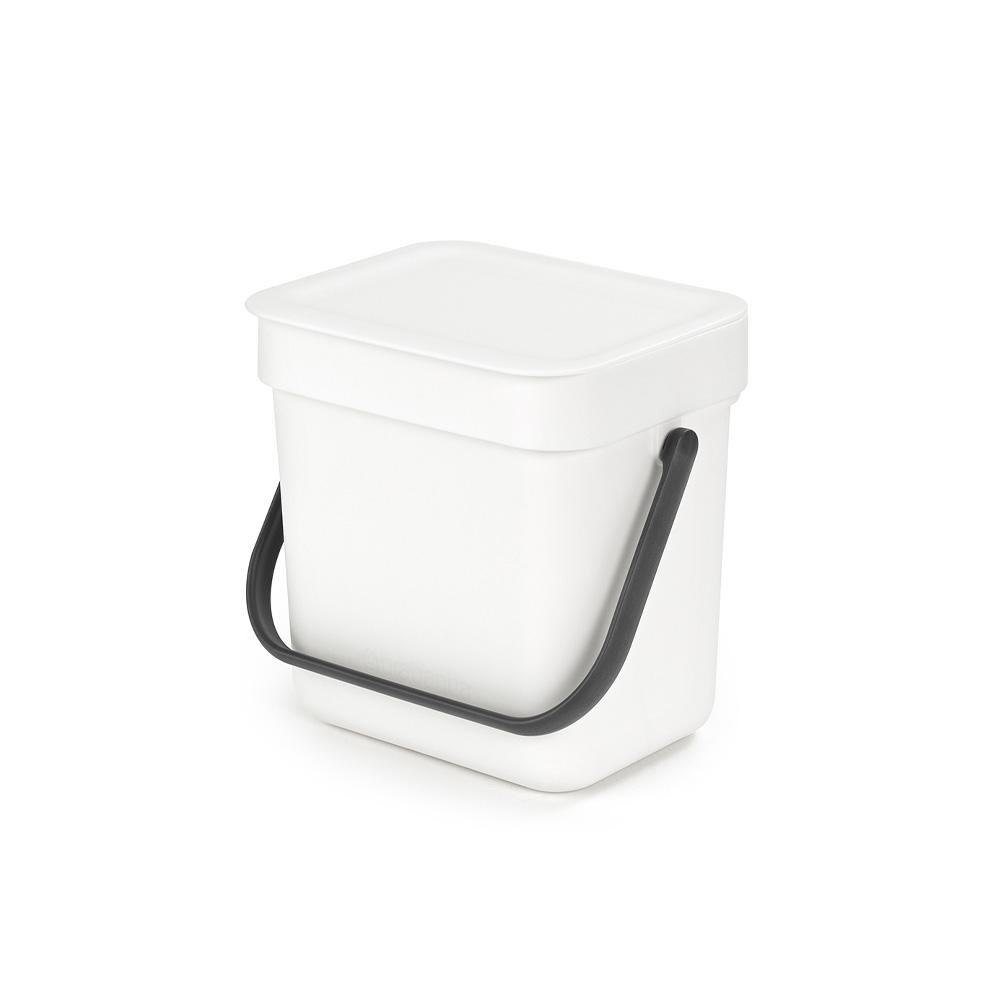 Кош за смет за разделно събиране Brabantia Sort&Go 3L, White