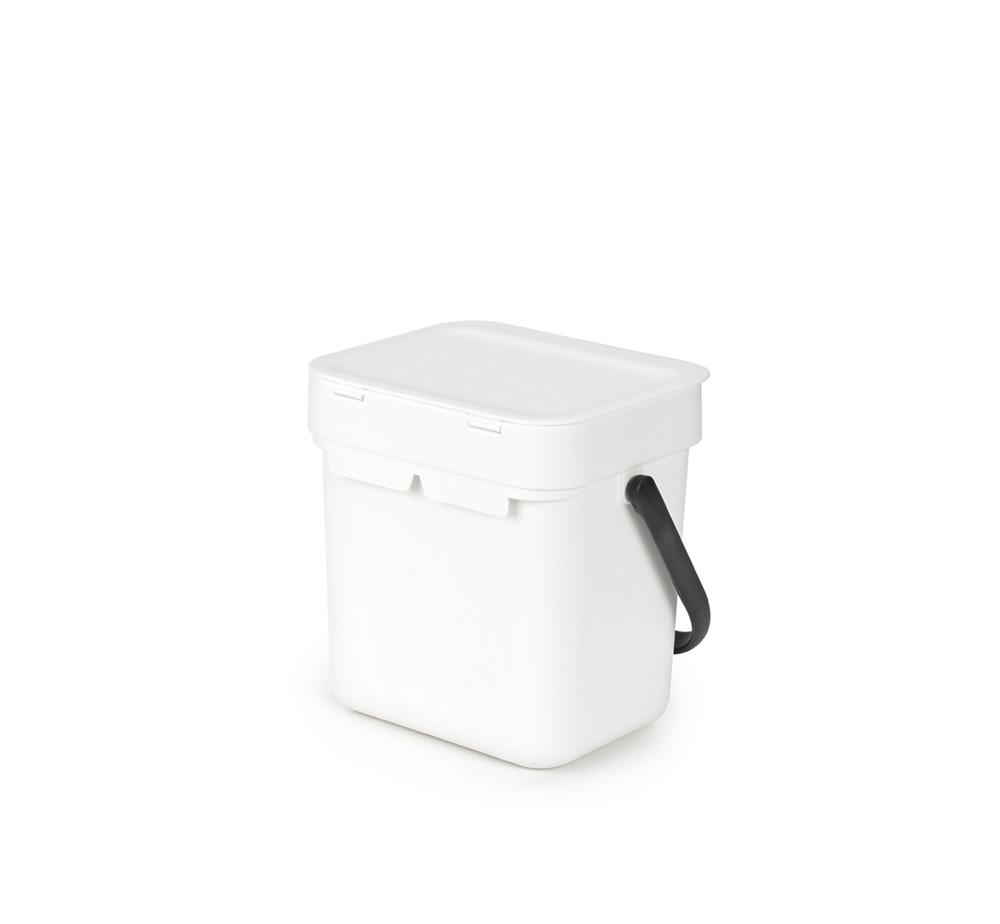 Кош за смет за разделно събиране Brabantia Sort&Go 3L, White(3)