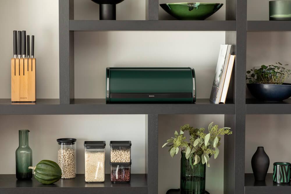 Кутия за хляб Brabantia Roll Top Pine Green(7)