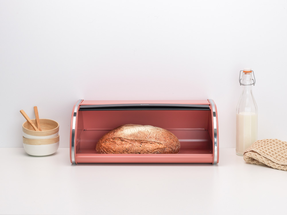 Кутия за хляб Brabantia Roll Top Terracotta Pink(5)