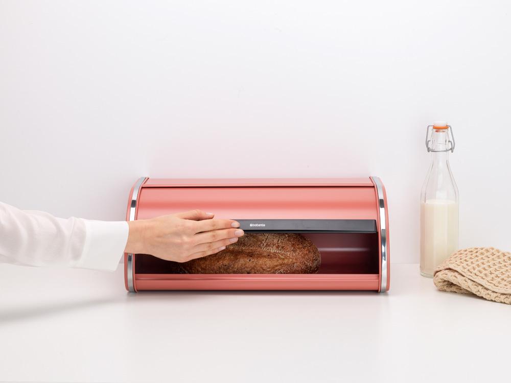 Кутия за хляб Brabantia Roll Top Terracotta Pink(6)