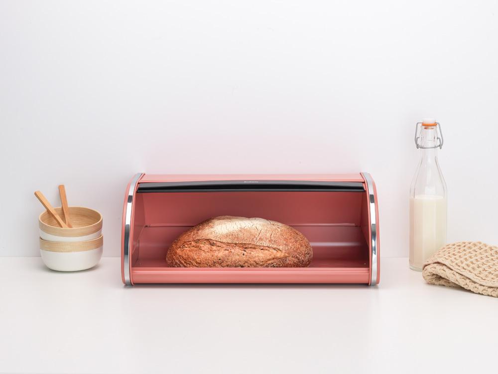 Кутия за хляб Brabantia Roll Top Terracotta Pink(7)