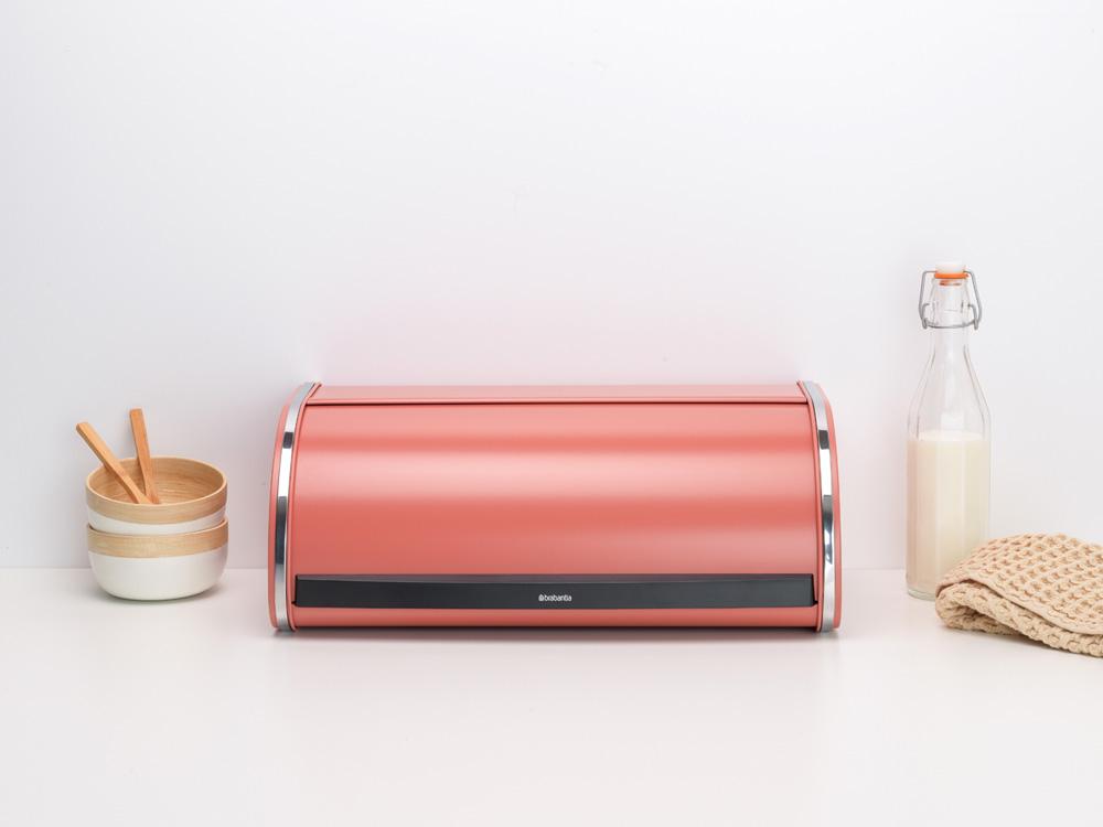 Кутия за хляб Brabantia Roll Top Terracotta Pink(8)