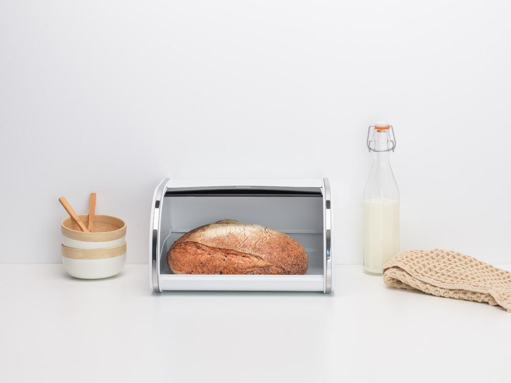 Кутия за хляб Brabantia Roll Top, White, средна(5)