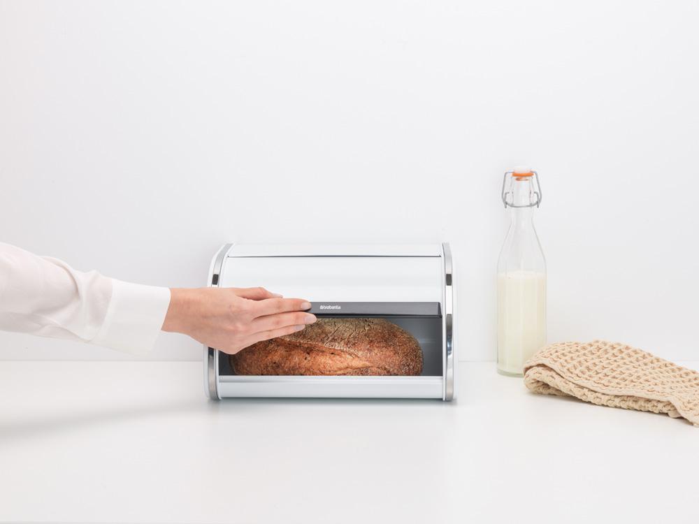 Кутия за хляб Brabantia Roll Top, White, средна(6)