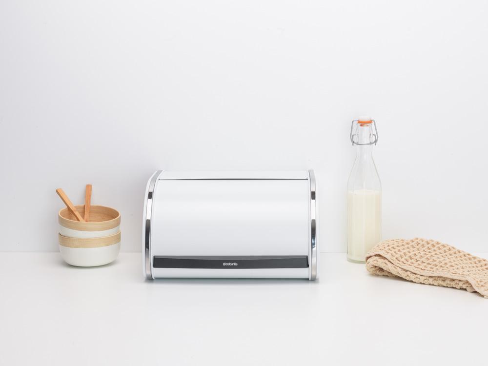 Кутия за хляб Brabantia Roll Top, White, средна(7)