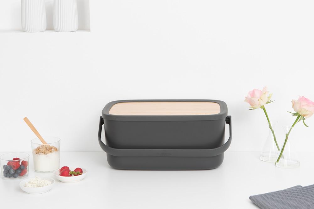 Кутия за хляб Brabantia Nic, Dark Grey(8)