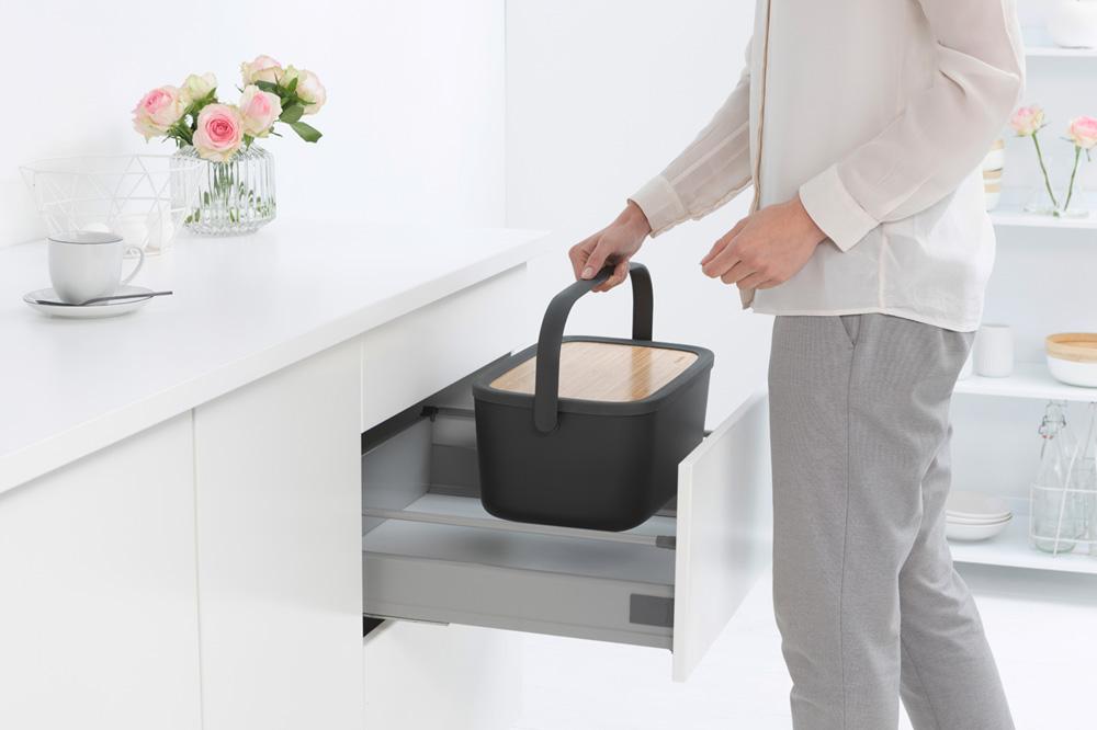 Кутия за хляб Brabantia Nic, Dark Grey(9)