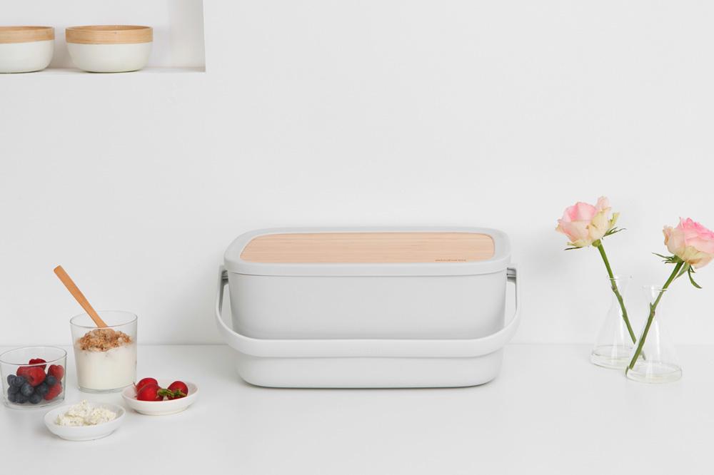 Кутия за хляб Brabantia Nic, Light Grey(10)