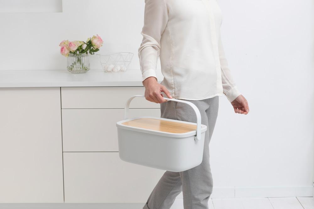 Кутия за хляб Brabantia Nic, Light Grey(12)