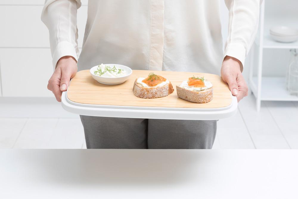 Кутия за хляб Brabantia Nic, Light Grey(14)