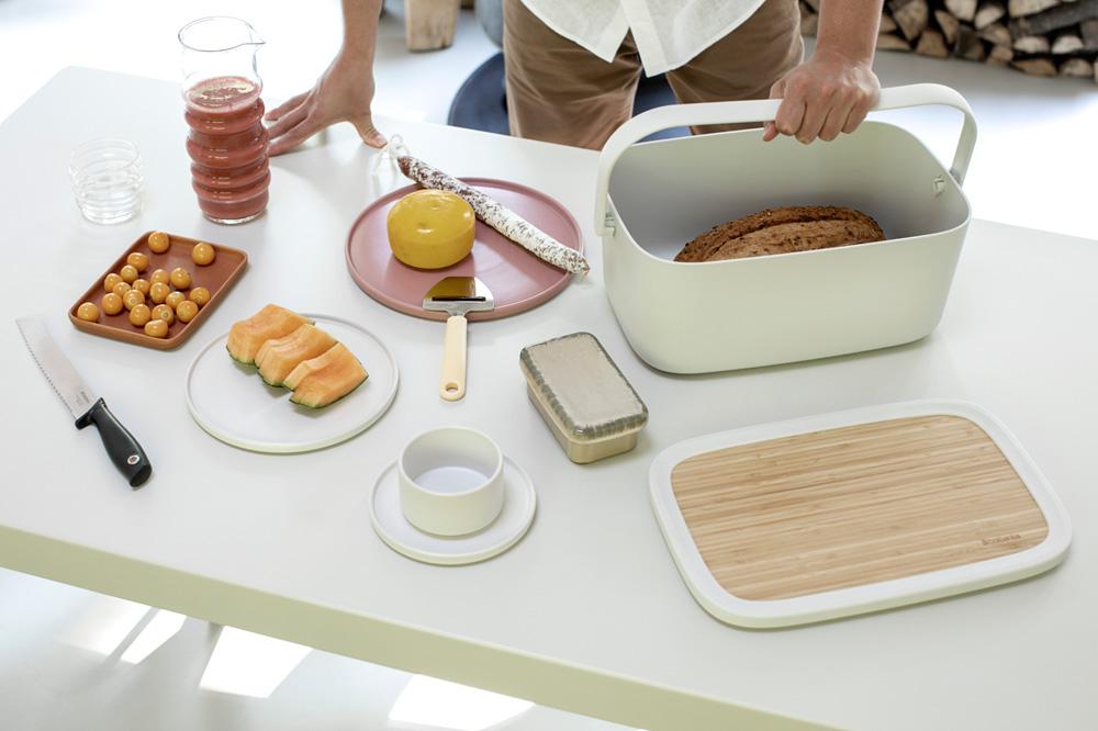 Кутия за хляб Brabantia Nic, Light Grey(17)