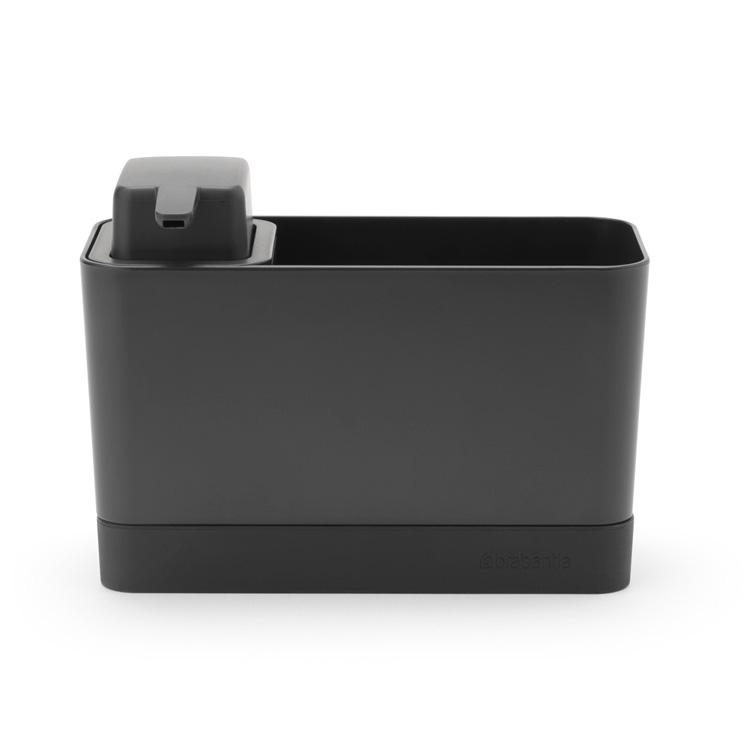 Органайзер за мивка с дозатор за течен сапун Brabantia Dark Grey