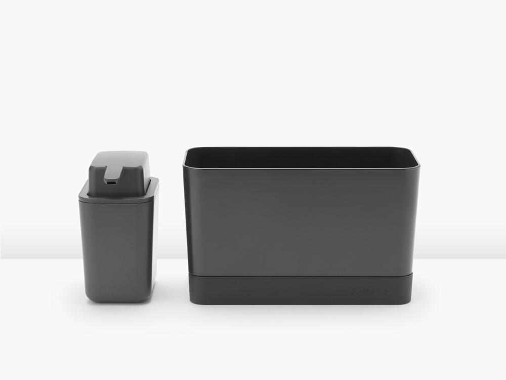 Органайзер за мивка с дозатор за течен сапун Brabantia Dark Grey(3)