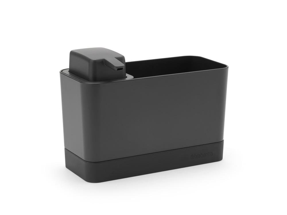 Органайзер за мивка с дозатор за течен сапун Brabantia Dark Grey(5)