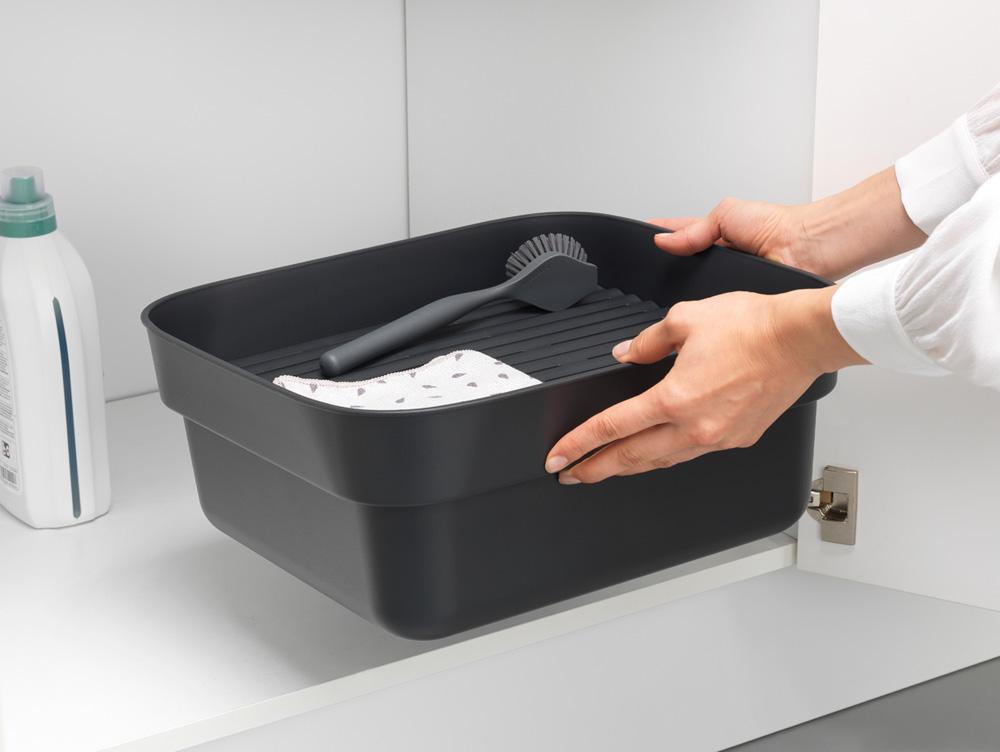 Купа за миене и отцеждане Brabantia, Dark Grey(7)