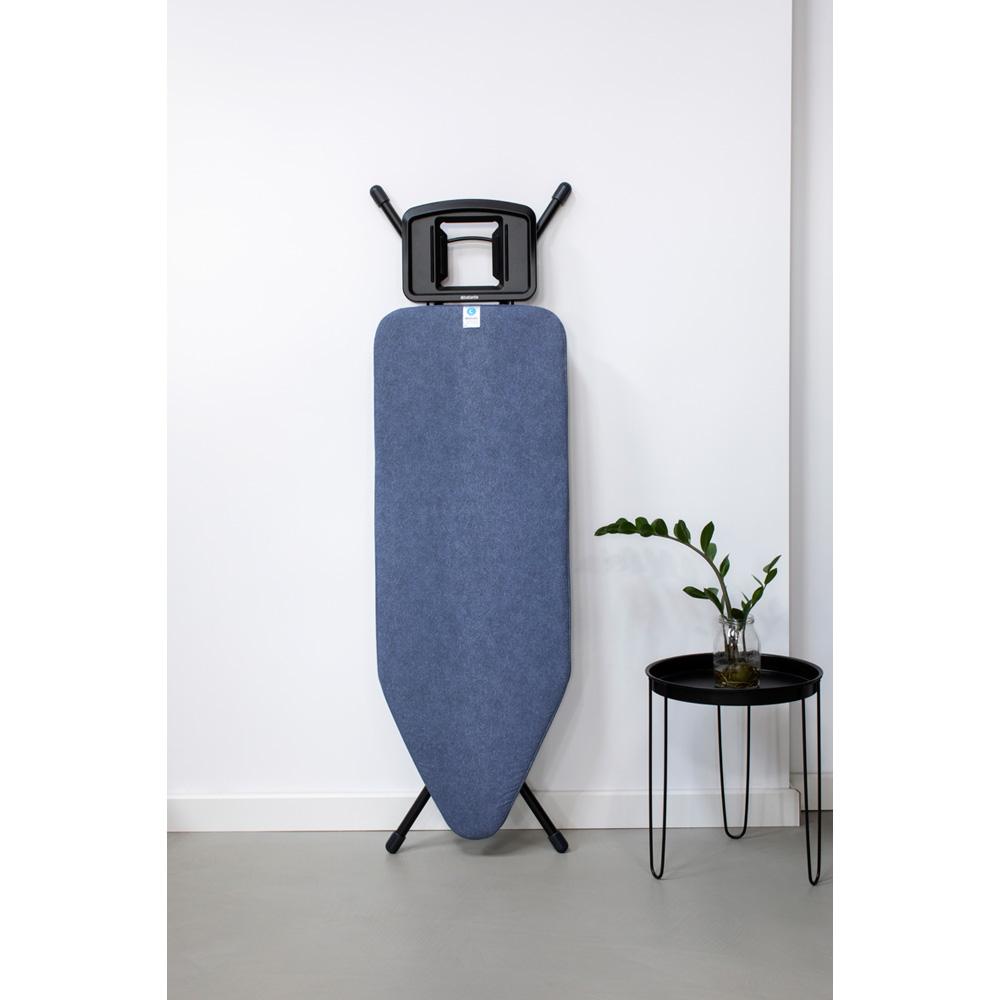 Маса за гладене Brabantia C 124x45cm с масивна поставка за ютия, Denim Blue(2)