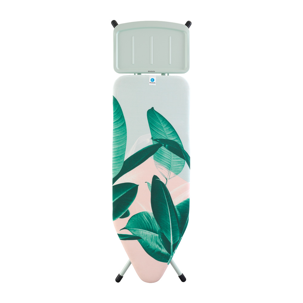 Маса за гладене Brabantia C 124x45cm с поставка за парогенератор, Tropical Leaves