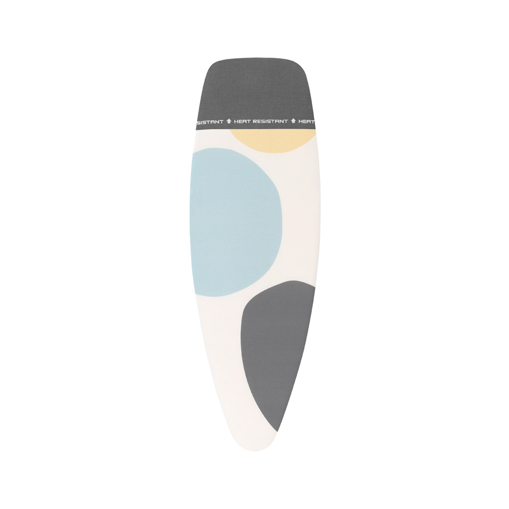 Калъф за маса за гладене Brabantia D 135x45cm, 4mm+4mm, топлоустойчива зона за ютия, Spring Bubbles