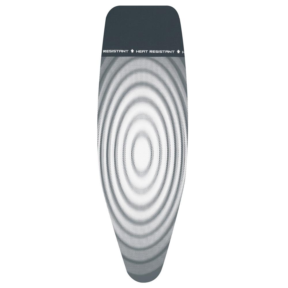 Калъф за маса за гладене Brabantia D 135x45cm, 4mm+4mm, топлоустойчива зона за ютия, Titan Oval