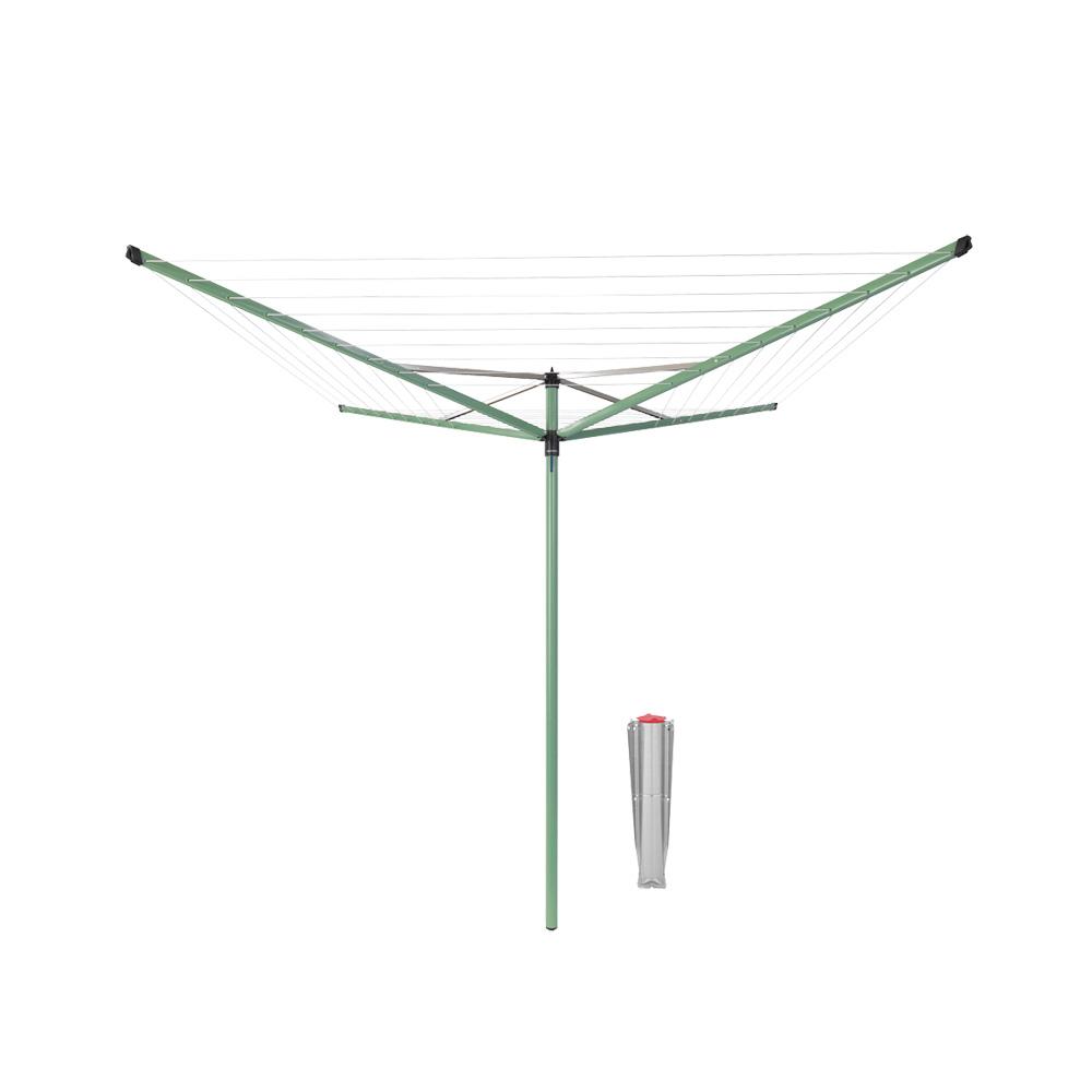 Външен простор Brabantia Topspinner 50m, метален шиш за бетониране, Leaf Green