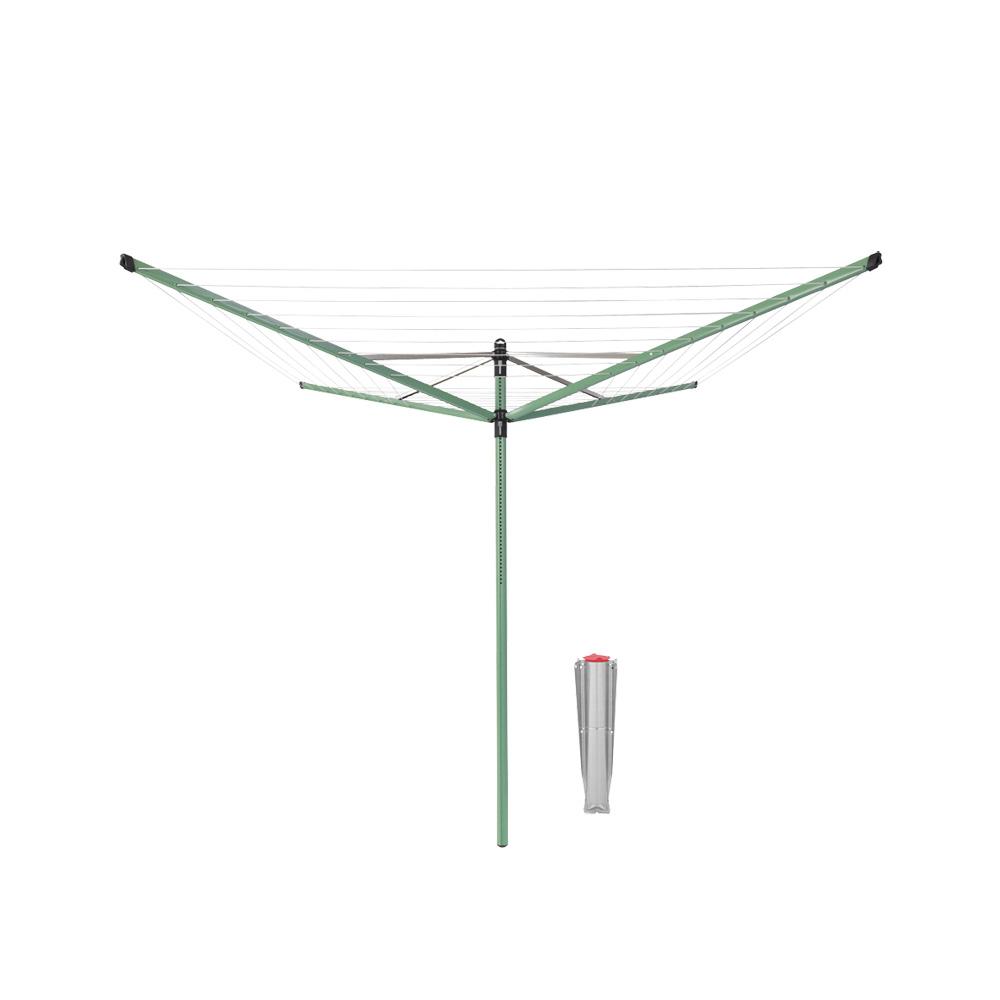 Външен простор Brabantia Lift-O-Matic 50m, метален шиш за бетониране, Leaf Green
