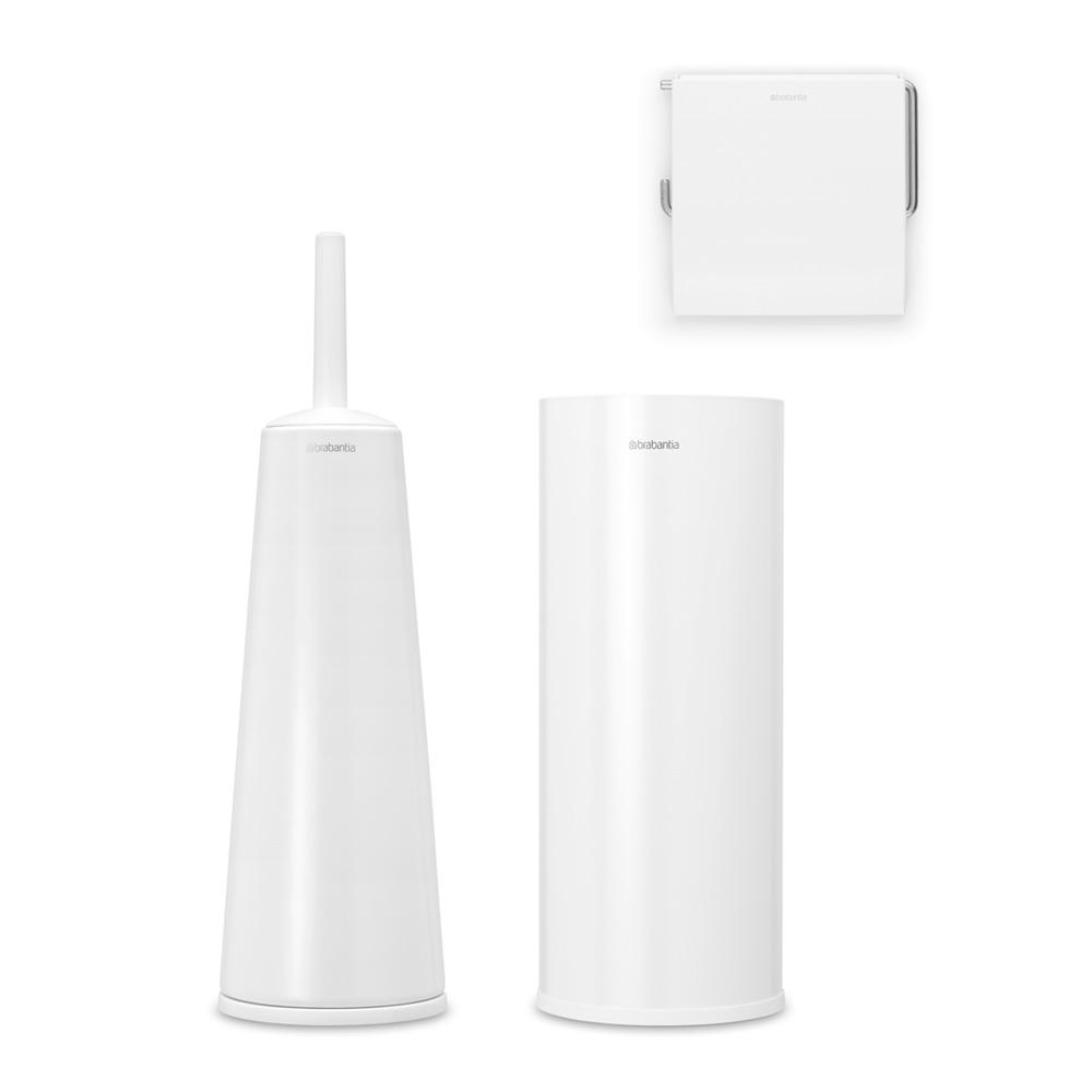 Аксесоари за тоалетна Brabantia Balance Collection, 3 части, White