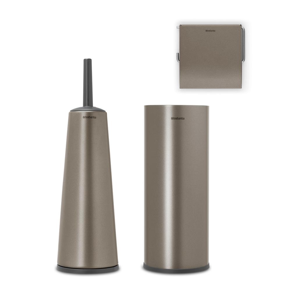 Аксесоари за тоалетна Brabantia Balance Collection, 3 части, Platinum