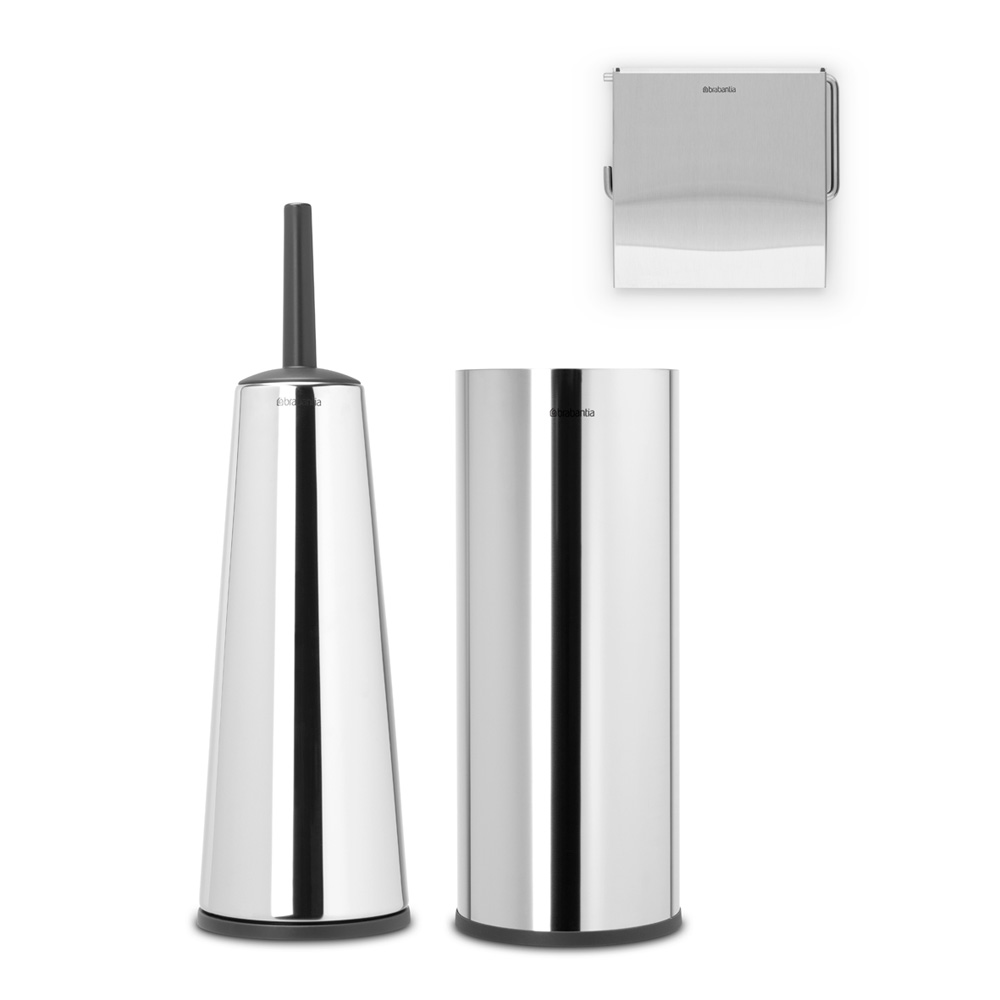 Аксесоари за тоалетна Brabantia Balance Collection, 3 части, Brilliant Steel