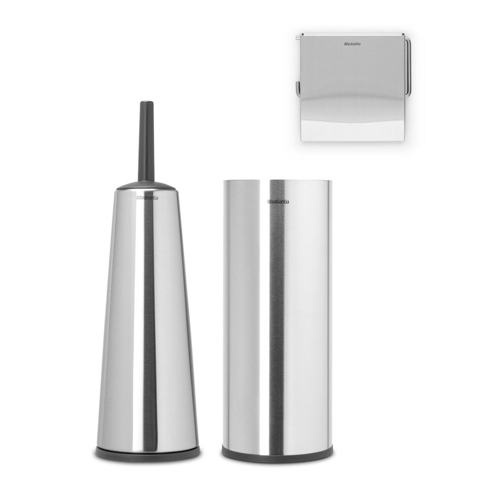 Аксесоари за тоалетна Brabantia Balance Collection, 3 части, Matt Steel
