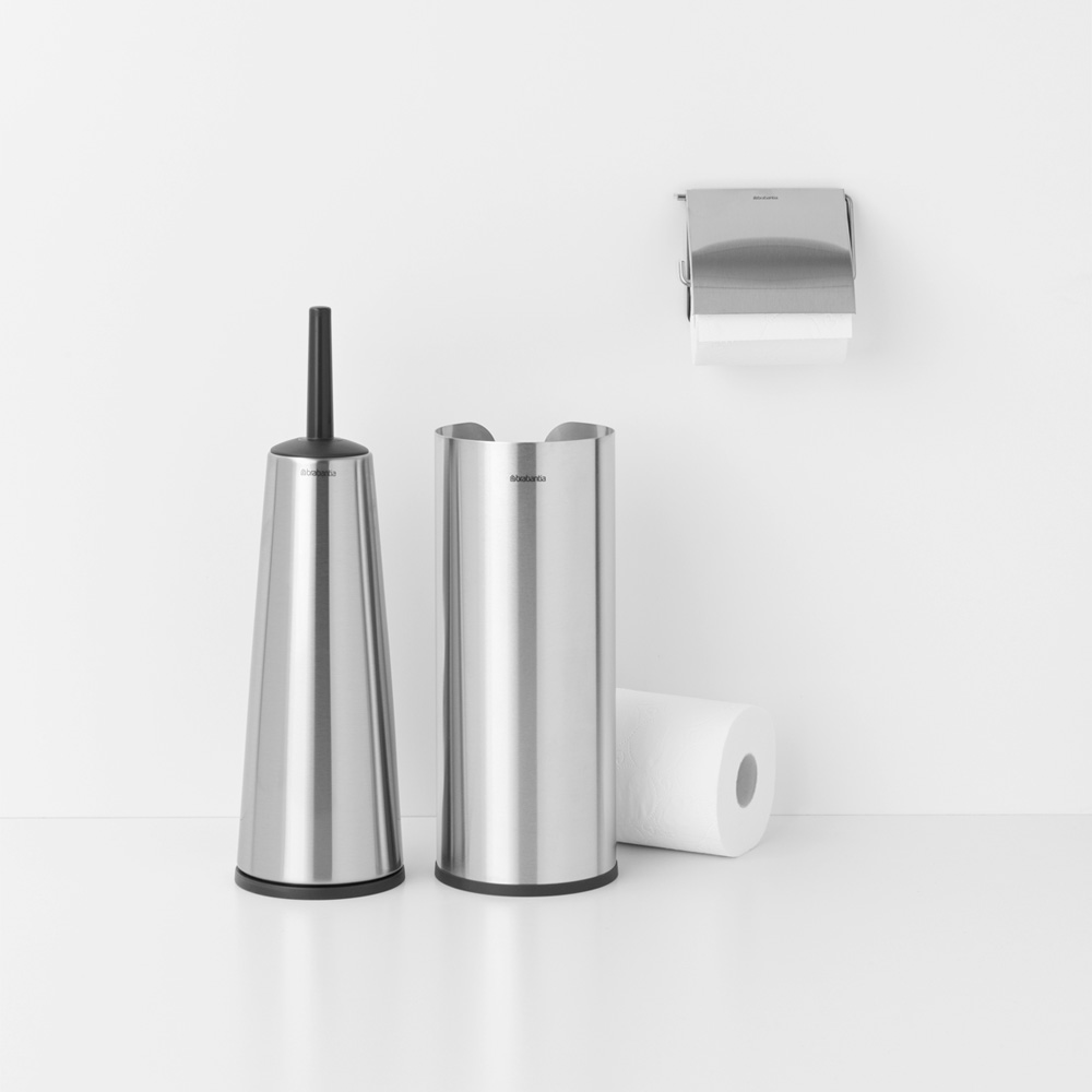 Аксесоари за тоалетна Brabantia Balance Collection, 3 части, Matt Steel(5)