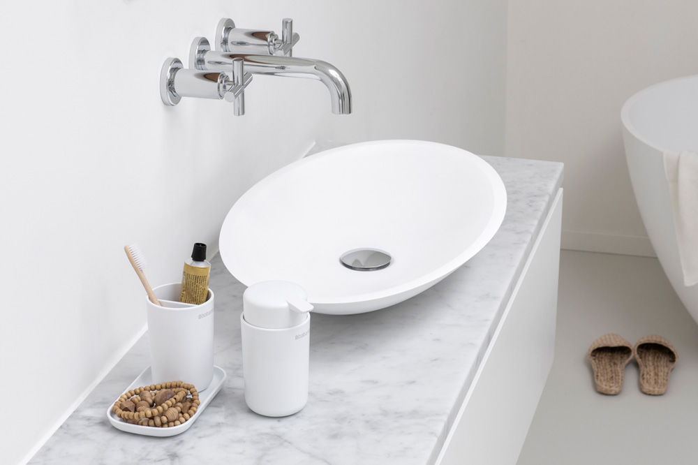 Аксесоари за баня Brabantia, 3 части, White(5)