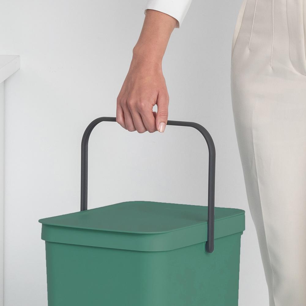 Кош за смет за разделно събиране Brabantia Sort&Go 40L, Fir Green(7)