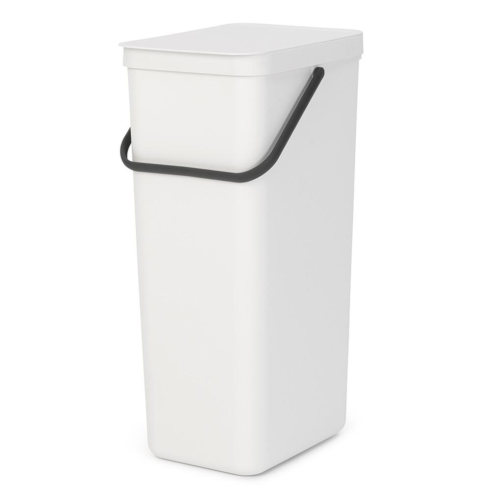 Кош за смет за разделно събиране Brabantia Sort&Go 40L, White
