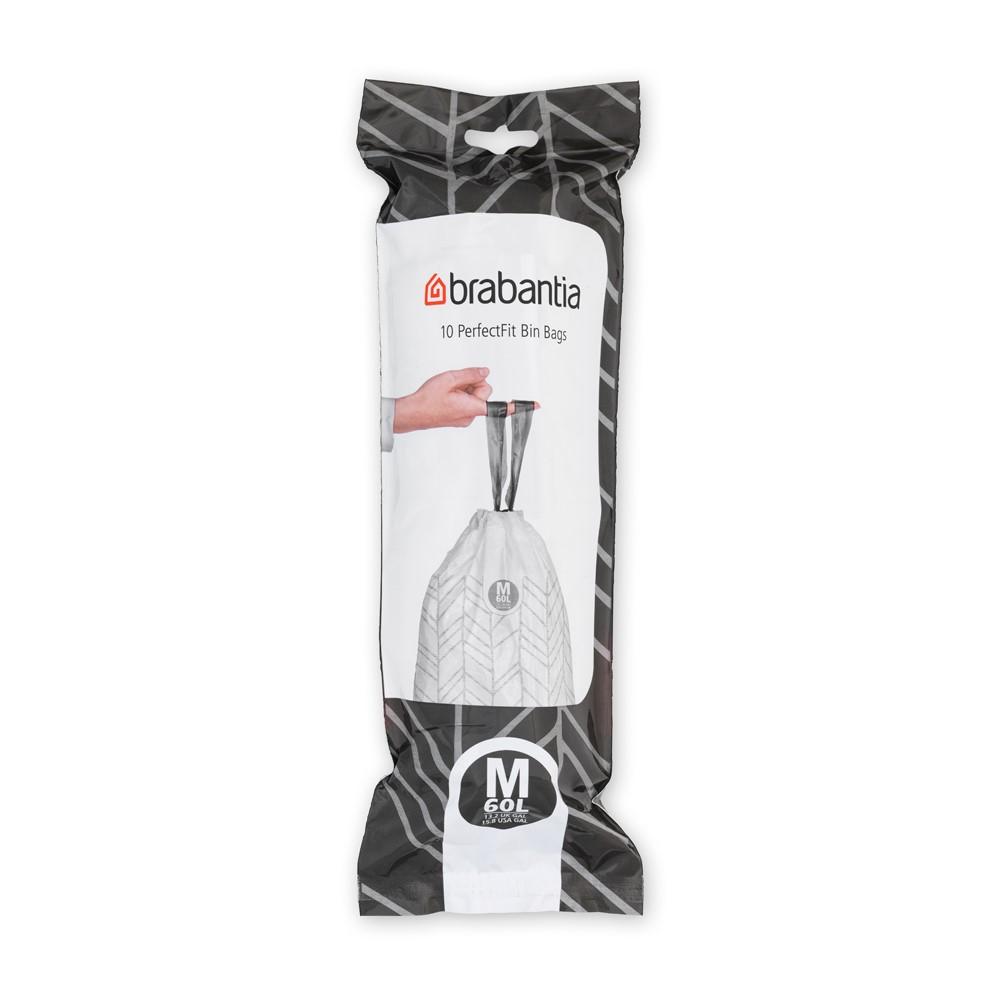 Торба за кош Brabantia размер М, 60L, 10 броя, бели