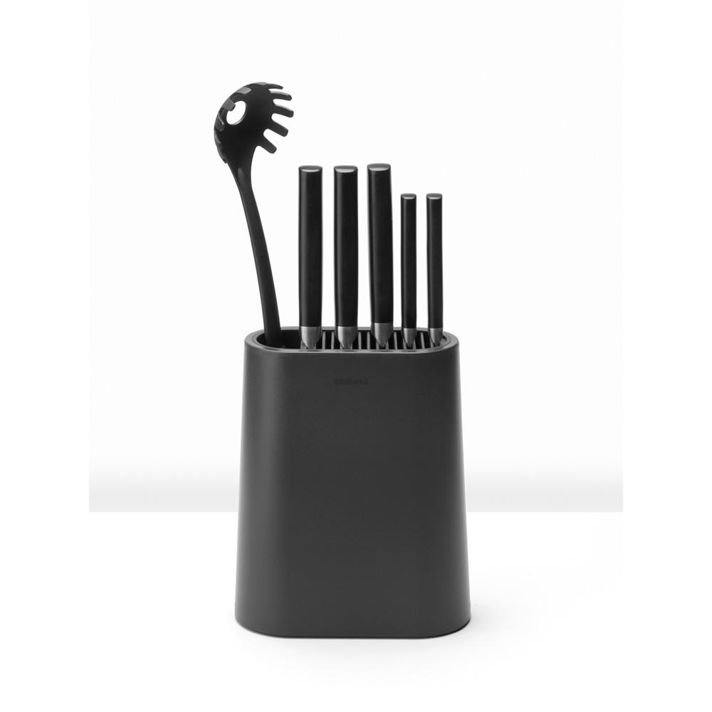 Блок за ножове с държач за прибори Brabantia, Dark Grey(10)