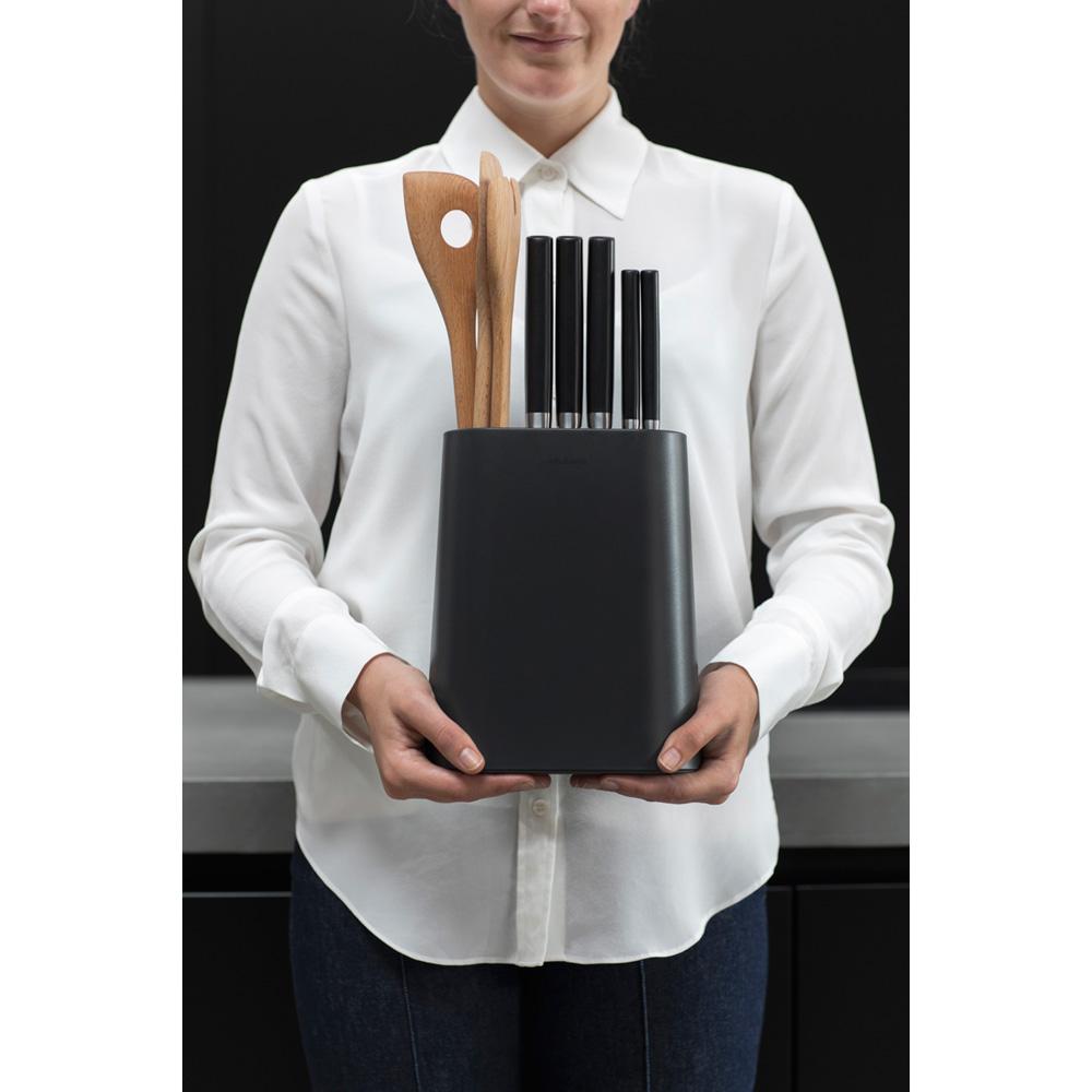 Блок за ножове с държач за прибори Brabantia, Dark Grey(13)