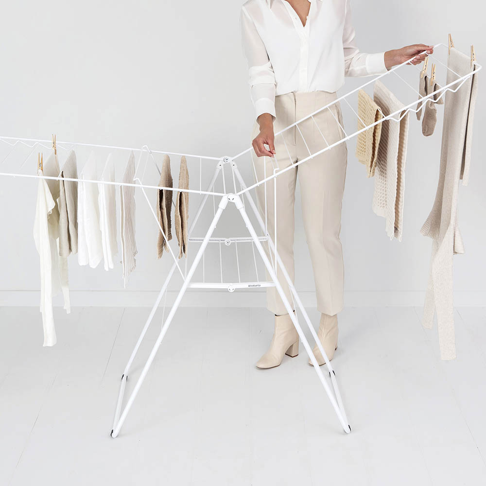 Сушилник за дрехи Brabantia Hangon, 25m, Fresh White(14)