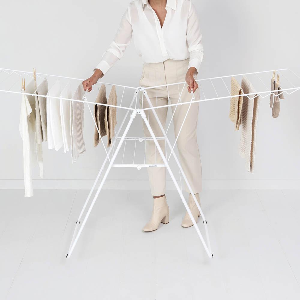 Сушилник за дрехи Brabantia Hangon, 25m, Fresh White(15)