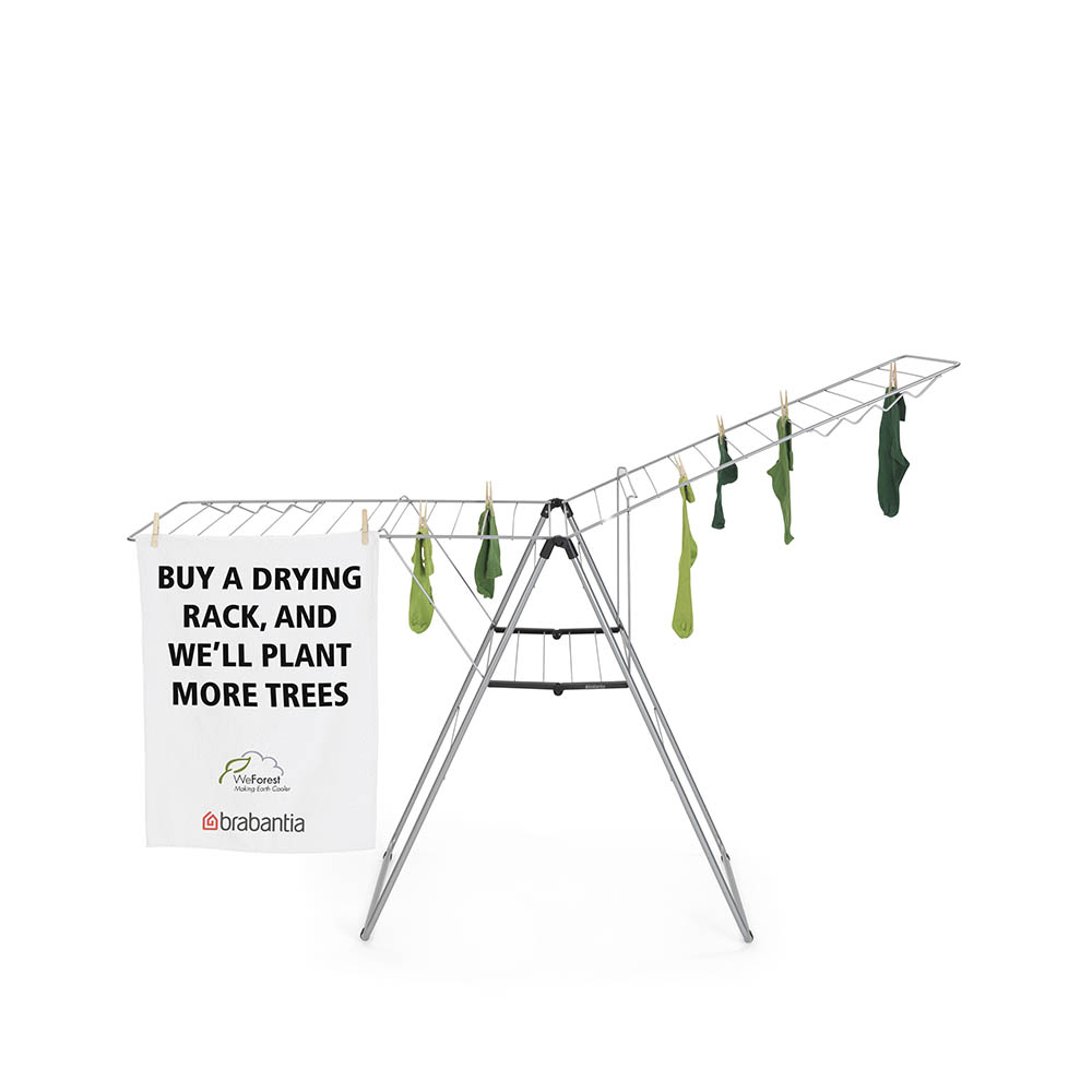 Сушилник за дрехи Brabantia Hangon, 25m, Metallic Grey(18)