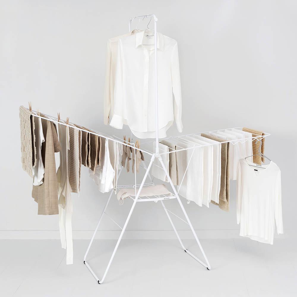 Сушилник за дрехи Brabantia Hangon, 25m, допълнителен прът, Fresh White(10)