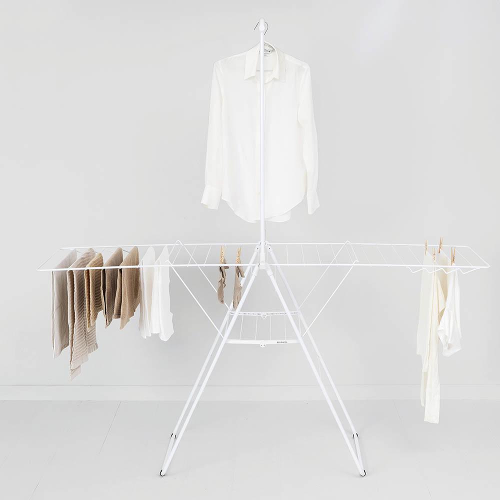 Сушилник за дрехи Brabantia Hangon, 25m, допълнителен прът, Fresh White(11)