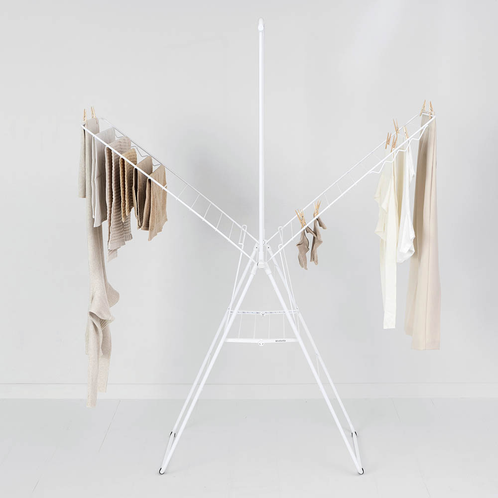 Сушилник за дрехи Brabantia Hangon, 25m, допълнителен прът, Fresh White(12)