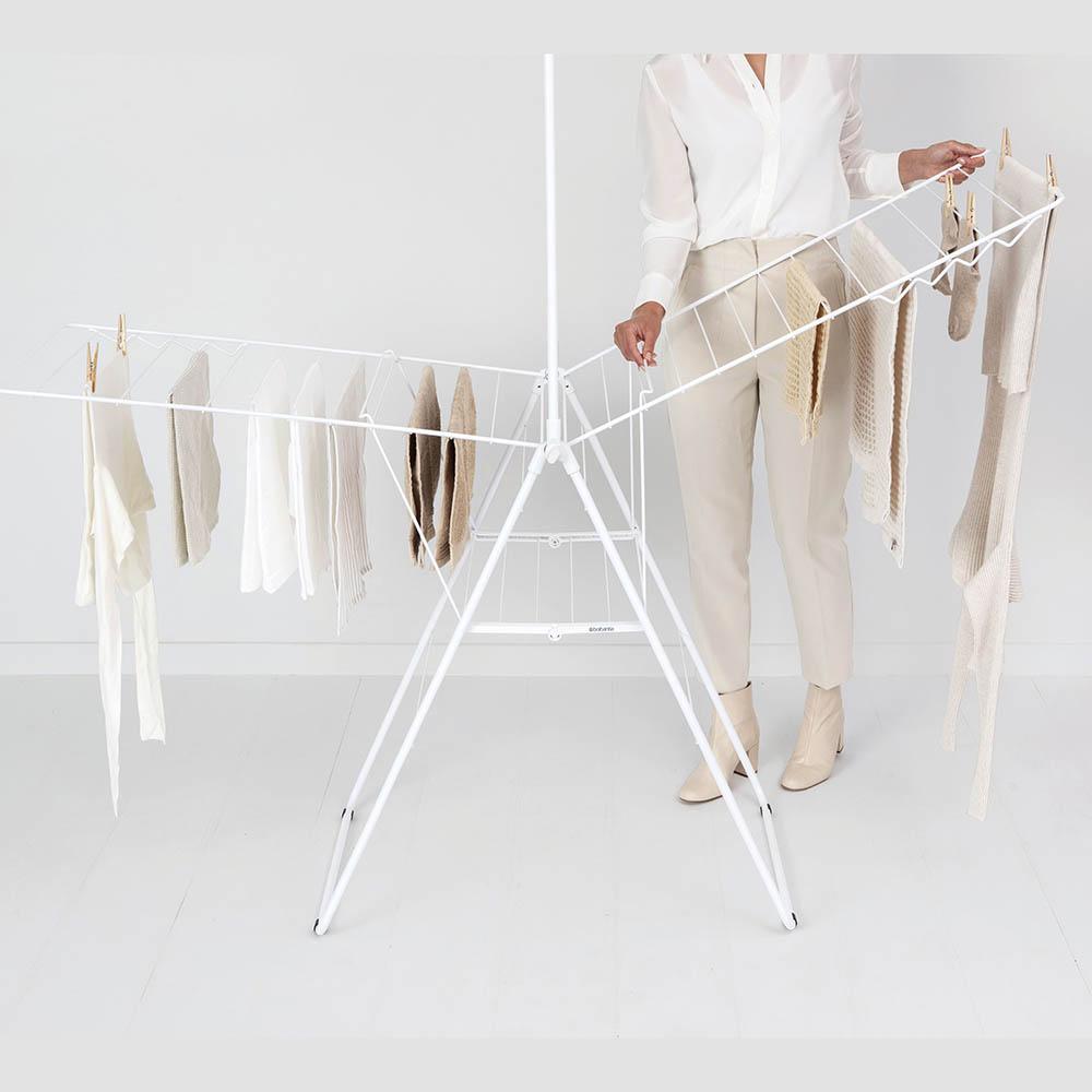 Сушилник за дрехи Brabantia Hangon, 25m, допълнителен прът, Fresh White(14)