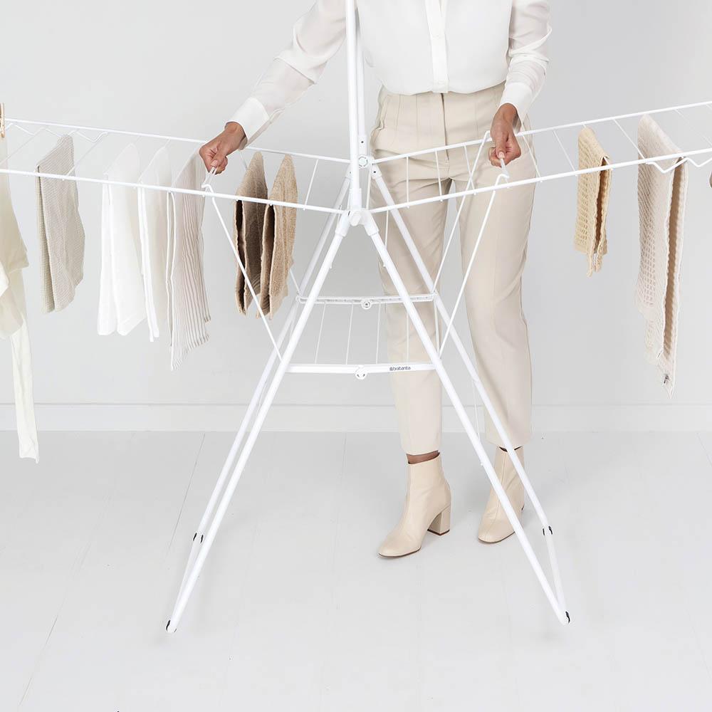 Сушилник за дрехи Brabantia Hangon, 25m, допълнителен прът, Fresh White(15)